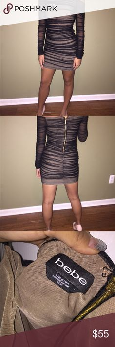 BEBE BODYCON DRESS Absolutely adorable worn 1x to a sweet 16 party. The pics don't do it justice!! bebe Dresses Prom