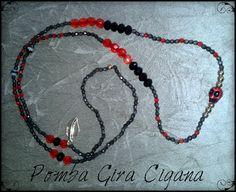 Pombagira Cigana = vermelho + preto e vermelho + dourado, ou somente dourado.