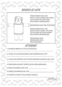 Lipitipi- Atividades e Projetos Fundamental I: Sequência Didática Boneca de Lata Primeiro Ciclo