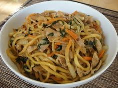 Japanese Heritage: Fried Okinawa Soba by a registered dietitian