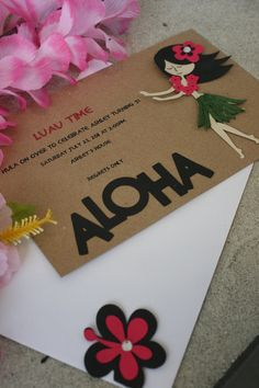 Hawaiian Luau Invitation by bbrennan74 on Etsy