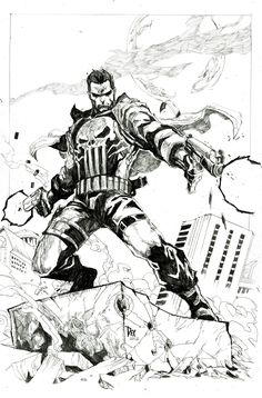 Punisher illustration by Dexter Soy. January, 2012.
