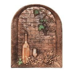 Good Directions Wine Cellar Mural & Backsplash, Copper Sophisticated, Cute, and Popular Wine Theme Kitchen Decor Wine theme kitchen decor is becoming very popular again especially so within the last couple of years. Aluminum Foil Art, Aluminium Foil, Tuscan Bathroom, Kitchen Drawing, Mexican Home Decor, Tuscan Design, Mediterranean Home Decor, Tuscan Decorating, Decorating Ideas