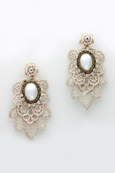 Embroidered Anna Earrings