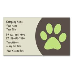 Pet care business cards business cards card templates and business colourmoves