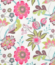 "Design Tip: Perfect fabric for a valance or roman shade in your little girls bedroom with this beautiful ""Crayon Candyfloss"" pattern by P/Kaufmann. Fabric Patterns, Print Patterns, Free Fabric Samples, Textiles, Fabulous Fabrics, Home Decor Fabric, Drapery Fabric, Flower Designs, Fabric Design"