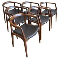 Set of Six Sculpted Dining Chairs by Aristeu Pires