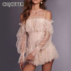 SONDR 2019 Lace Patchwork Playsuits Womens Off Shoulder Lantern Sleeve High Waist Mini Trousers Summer Fashion Sweet Clothing White Lace Playsuit, Ruffle Jumpsuit, Short Jumpsuit, Rompers Women, Jumpsuits For Women, Boho Romper, Wool Dress, Clothes For Women, Dresses