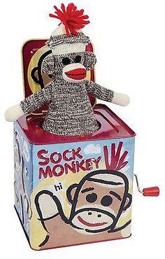 Jack-in-the-Box 166785: Sock Monkey Jack In The Box Sock Monkey Jack In The Box -> BUY IT NOW ONLY: $32.65 on eBay!