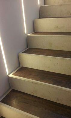 Beton Treppe mit Holz