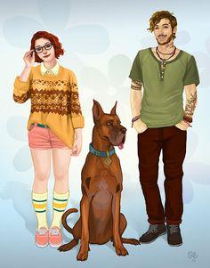 Velma, Scooby, and Shaggy. : Velma, Scooby, and Shaggy. Character Inspiration, Character Art, Character Design, Cartoon As Anime, Cartoon Art, Arte Disney, Disney Art, Futurama, Shaggy And Velma