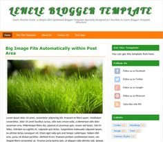 A simple SEO optimized Blogger template specially designed for newbies to learn Blogger template structure.