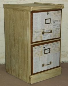 restyled wood filing cabinet