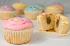 Cupcakes de Huevo con Chocolate relleno - Chocolate Egg Stuffed Cupcakes