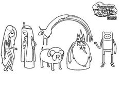 1000 ideas about adventure time coloring pages on for Adventure time characters coloring pages