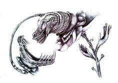 #art #myart #monster #crazy #scales #pen #blackandwhite #fantasy #crazy #observe #eyes #bones #black #hangry