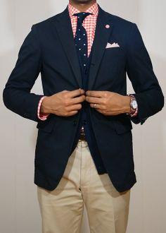 mixed suiting Plaid Blazer, Blazer Jacket, Nice Suits, Mode Costume, Men Clothes, Suit Fashion, Sport Coat, Blue Plaid, Men's Style
