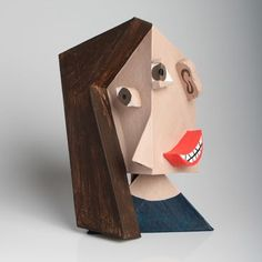 Churchill High School - Visual Art 3D ; Cubist self-portrait in the style of Pablo Picasso. Includes 8 minute video