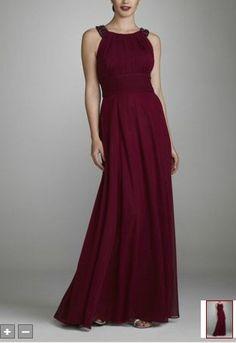 long wine colored dress