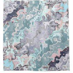 Abstract Pastels Pattern Shower Curtain - home decor design art diy cyo custom