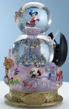 Disney Fantasia Double Bubble Snowglobe