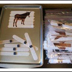 Magnetic Popsicle Puzzles. Magnetic tray. Perfect for travel