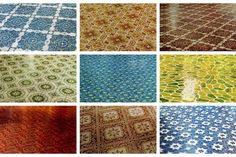 Get down with 70 groovy vintage vinyl floors from the '70s & '80s