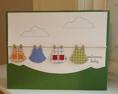 Clothesline Welcome Baby Card