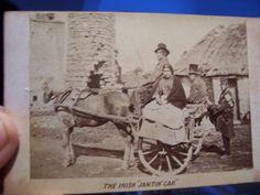 Unusual ANTIQUE1860's Period CDV of Irish Shanty in Rags and Wagon | eBay