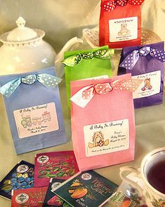 """""""A Baby Is Brewing: Tea Baby Shower Favors, Cappuccino and Iced Tea"""