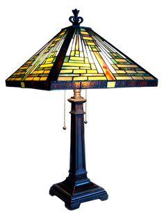 "Tiffany 24"" H Table Lamp with Empire Shade"