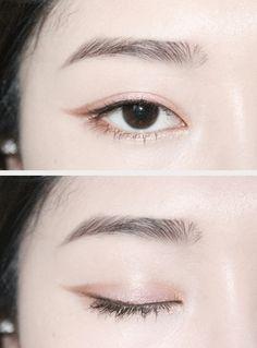 Rose pink pearl (subtle and beautiful) 🌿 Chinese Makeup, Asian Eye Makeup, Korean Makeup, Monolid Makeup, Beauty Makeup, Dark Makeup, Natural Makeup, Ulzzang, Sweet Makeup