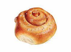 Cinnamon Snail Art Zimtschnecke Illustration // par KendyllHillegas
