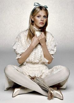 Alice in Wonderland / karen cox.  Britt Ekland, photo by Terry O'Neill, 1967