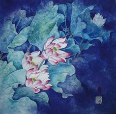 Lotus Painting - Lotus by Claire Shelby