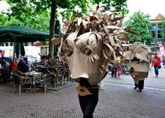 cardboarders cardboard heads deventer burgerweeshuis brink de waag