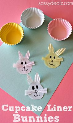 Cupcake Liner Bunny Craft for Kids #Easter craft for kids | http://www.sassydealz.com/2014/03/cupcake-liner-bunny-craft-kids.html