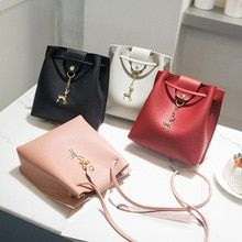 aaf276223c 2018 New Fashion Women Solid Color Cute Shoulder Bags Ladies PU Leather  Mini Crossbody Bags Female