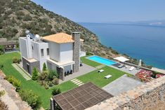 Hotels and Villas in Crete. A collection of the best Crete villas and Crete hotels. Crete Hotels, Luxury Hotels, Mansions, House Styles, Hair, Beauty, Home Decor, Luxury Collection Hotels