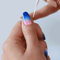 DIY nail art gets tropical. See more inspiration for easy manicure tips here.