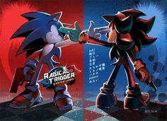 Sonic: I found you, faker! Shadow the Hedgehog: Faker? I think you're the fake hedgehog around here. Shadow The Hedgehog, Hedgehog Art, Sonic The Hedgehog, Silver The Hedgehog, Sonic Team, Sonic 3, Sonic Heroes, Play Sonic, Sonic Fan Art