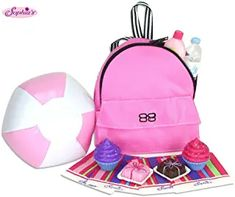 Find the best prices on Sophia's Doll Food, Beach Ball & Doll Backpack Accessory Set fits 18 Inch Dolls My Life Doll Accessories, Suntan Lotion, Doll Food, Amazon Gifts, Beach Ball, 18 Inch Doll, Sunscreen, Girl Dolls, Fashion Backpack