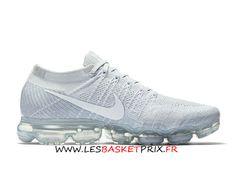pretty nice b23cb ee4f8 Nike Air Vapormax Flyknit 849558-004D Chaussures DE Running Blanc Pas Cher  Pour Homme -