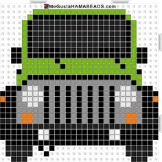Jeep Wrangle Hama perler beads pattern - MeGustaHAMABEADS