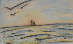 Île de Grand-Manan_Gannet Rock_335_pastels Rembrandt Belly Top, Earth Day Projects, Rembrandt, Painting, Pastels, Rock, Painting Art, Paintings, Locks