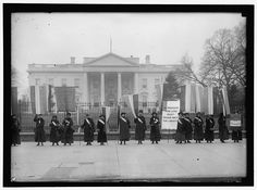 National Women's Party demonstration in front of the White House in The banner protests Wilson's failure to support women's suffrage. Suffrage Movement, Political Images, White Stock Image, Great Women, History Museum, Women In History, Ladies Party, Photo Editing, Stock Photos
