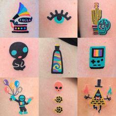Handpoke My Work Neon Tattoos Collection Simbolos Tattoo, Neon Tattoo, Piercing Tattoo, Get A Tattoo, Tattoo Drawings, Pretty Tattoos, Unique Tattoos, Beautiful Tattoos, Cool Tattoos