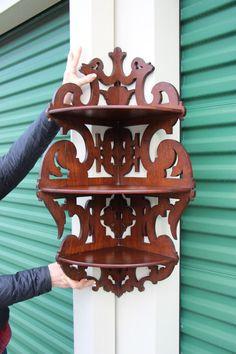 5 Shelf Victorian Corner Etagere What Not Shelf Stand