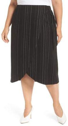 8fffcc1f899 Leith Wrap Midi Skirt - Plus Size Plus Size Skirts