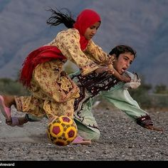 Girls from Balochistan playing football. No fancy boots. No brazucas. Just intensity and passion. #football